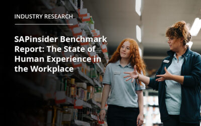 SAPinsiderBenchmark Report: The State of Human Experience in the Workplace