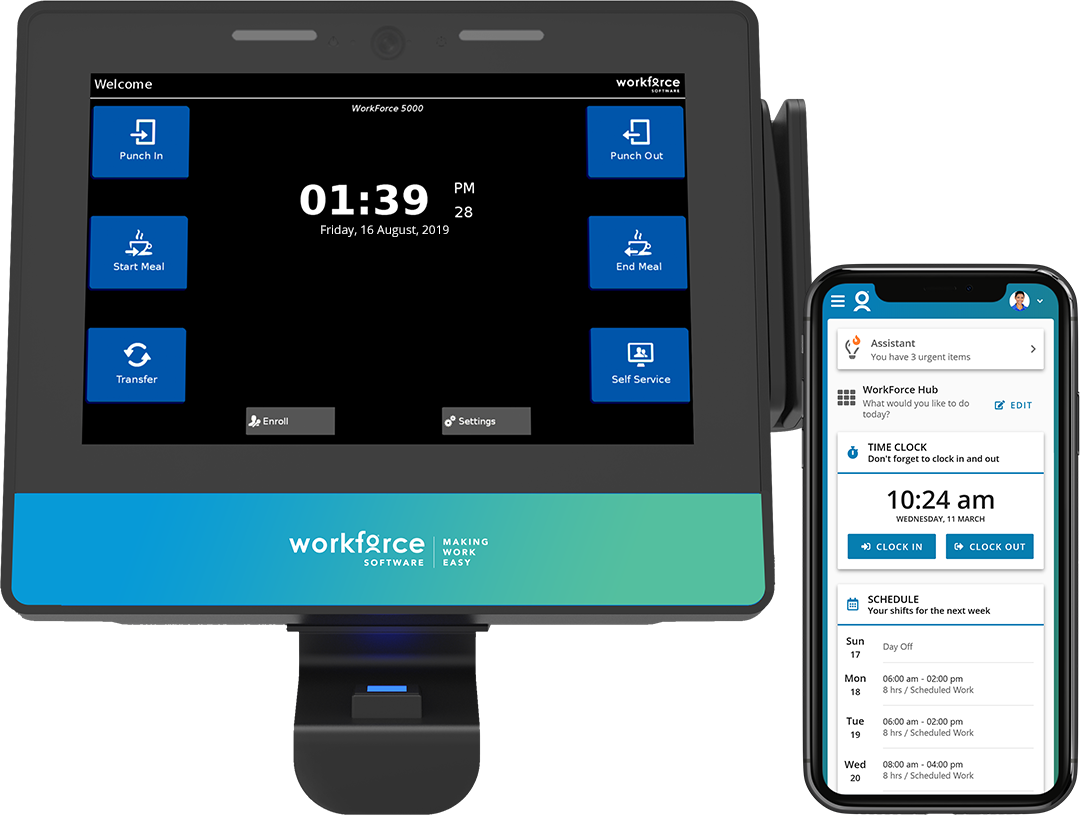 WorkForce 7100 Time Clock and Mobile WebClock