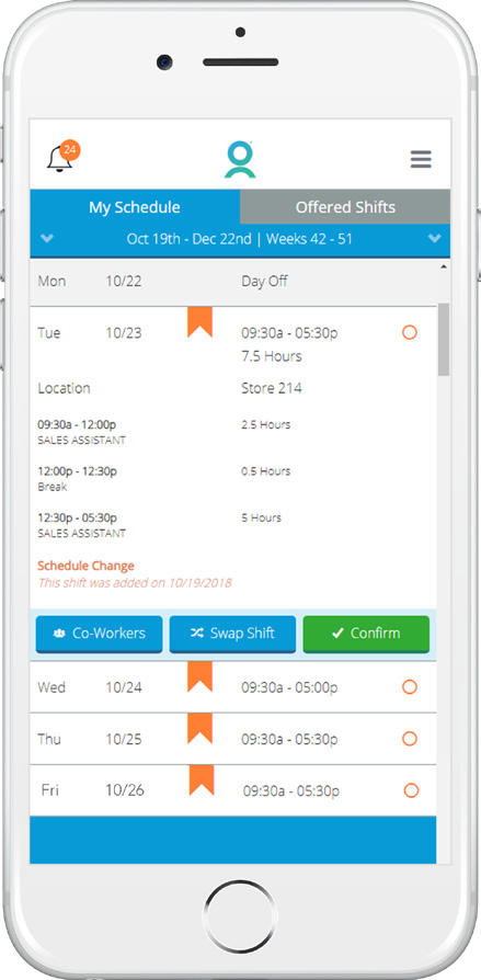 WorkForce Mobile Forecasting & Scheduling