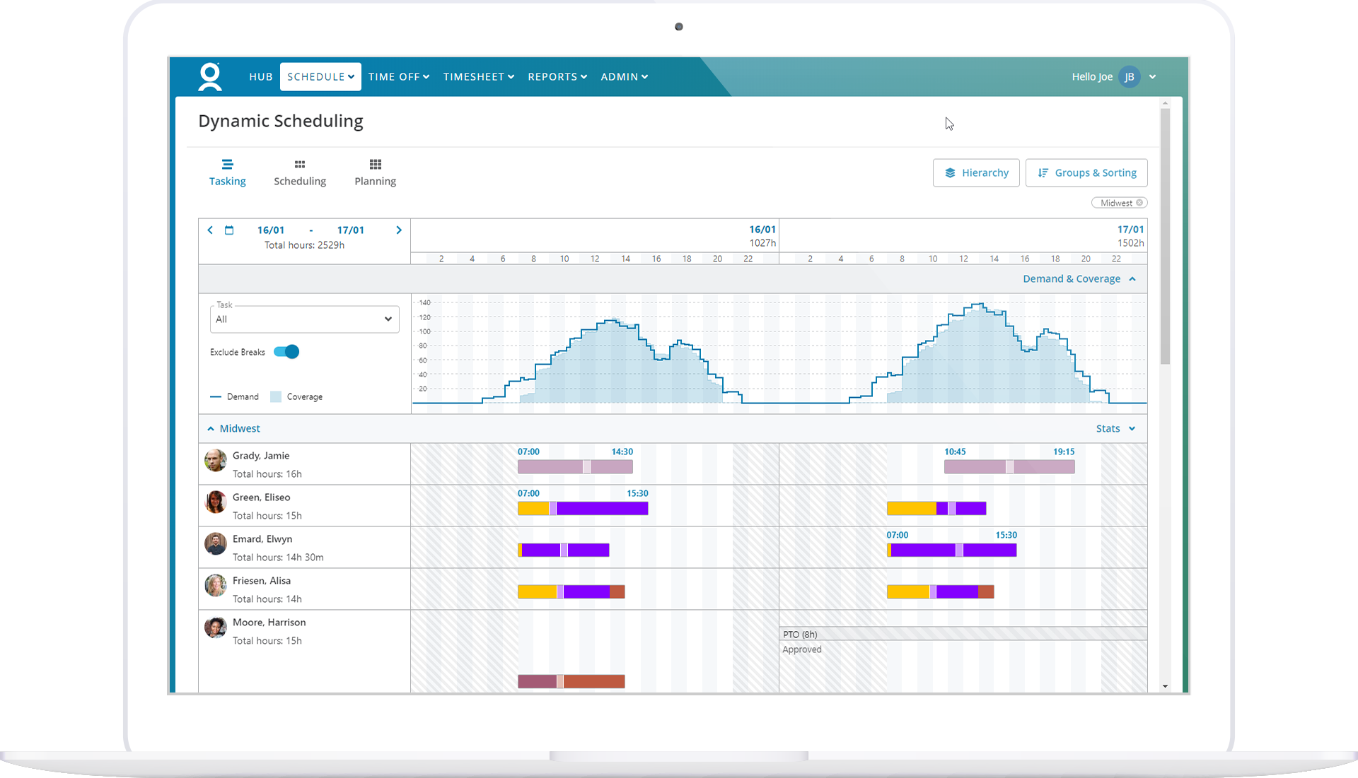 Manager Dynamic Scheduling Task View Demand