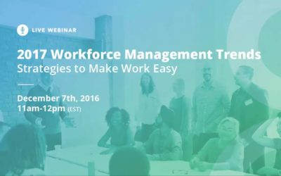 2017 Workforce Management Trends
