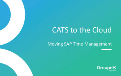 CATS to the Cloud: Moving SAP Time Management to the Cloud Webinar