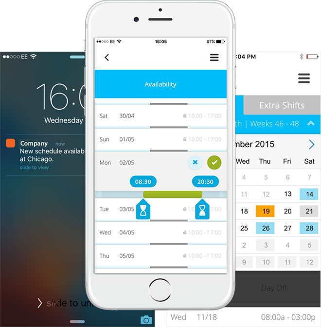 mobile employee scheduling