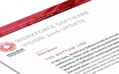 WorkForce Software VISION 2016 Update from Nucleus Research